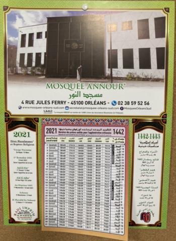 Calendriers 2021   horaires de prières | Mosquée Annour ( Orléans